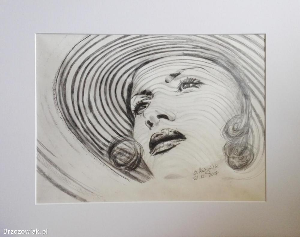 Własnoręczny rysunek z serii Kobieta