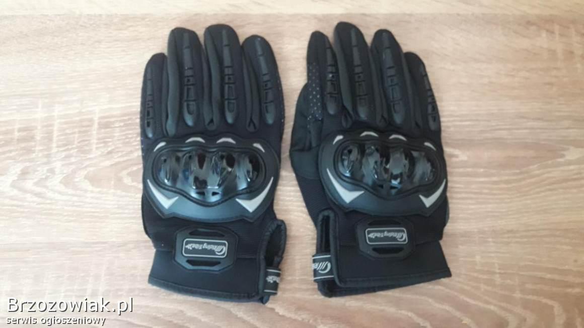 Rekawiczki motocyklowe z ochraniaczami nowe MTB Cross Tekstylne skóra