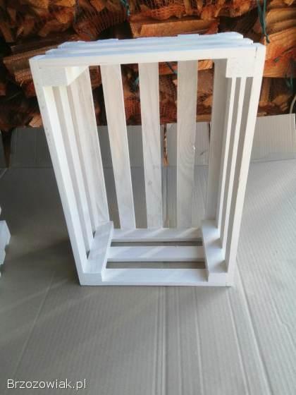 Skrzynki drewniane białe. . .